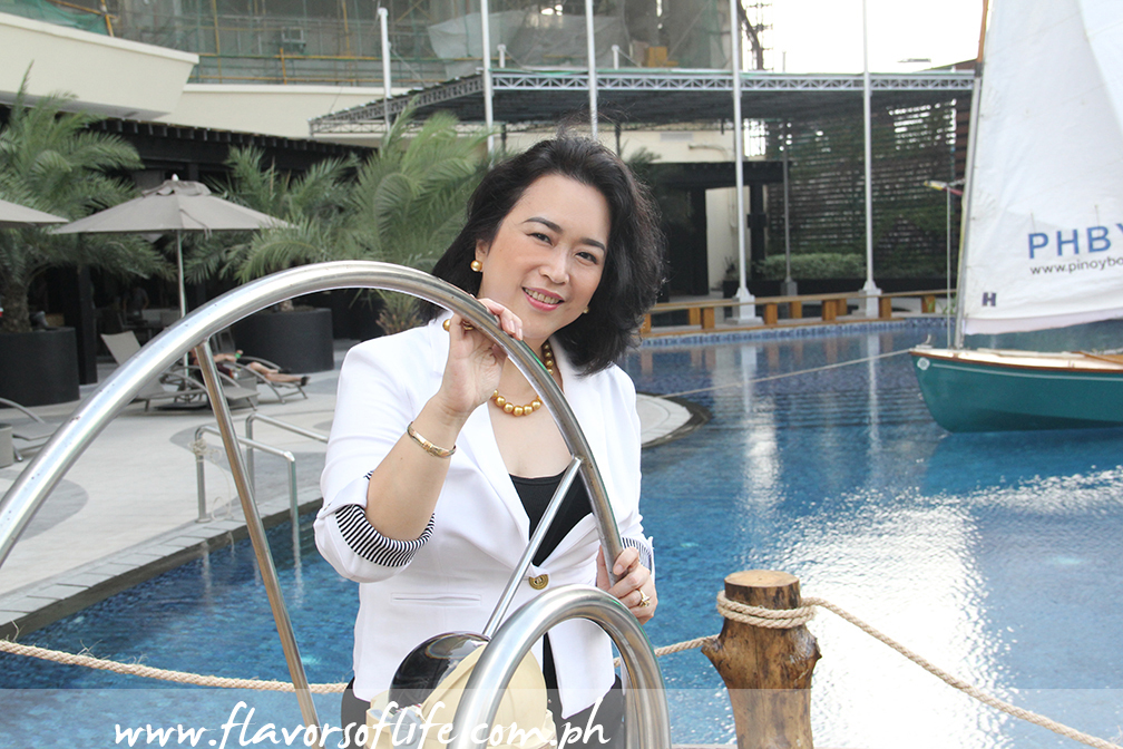Olivia Limpe-Aw, president of Destileria Limtuaco, during the marine-themed launch of Very Old Captain Artisan Crafted Dark Rum