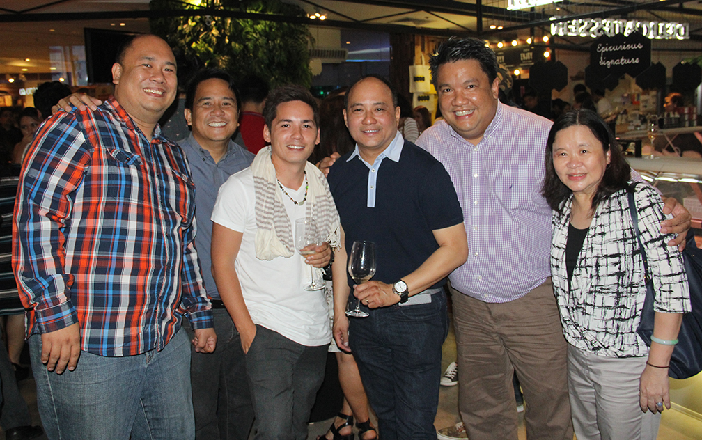 Friends and colleagues, from left: Chef Myke Sarthou, Adolf Aran, Chef Josh Boutwood, Chef James Antolin, Chef Robby Goco and Chef Penk Ching
