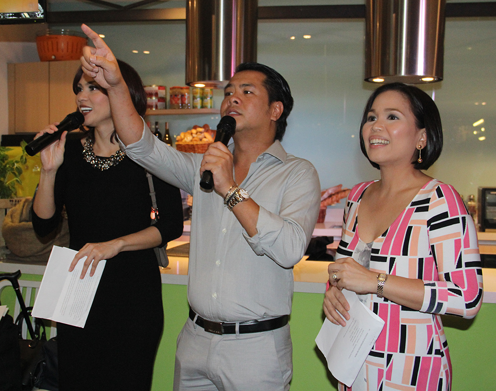 Event hosts Issa Litton, Ferdie Salvador and Chef Melissa Sison-Oreta