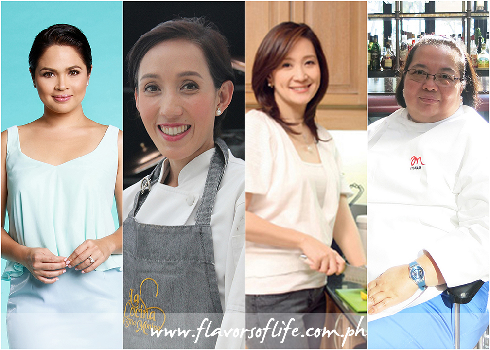 Featured in Sofitel Philippine Plaza's Mother's Day Sunday Brunch are recipes of, from left: Judy Ann Santos, Chef Suzette Montinola, Nina Daza-Puyat and Chef Mia Manuel