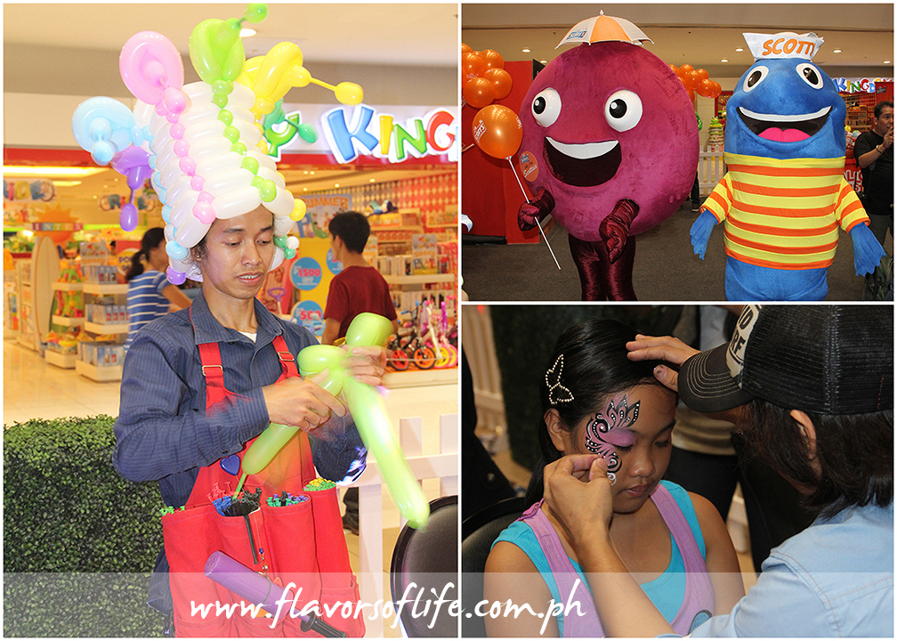 Other fun activities that took place during the #Momazing Campaign launch included, clockwise from left: balloon twisting, picture-taking with the mascots, and face painting