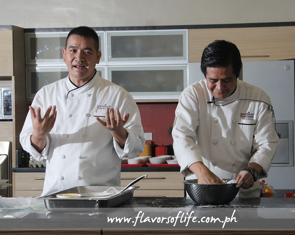 San Miguel Pure Foods Culinary Center's baking specialists Rene Ruz and Ramon Victoria