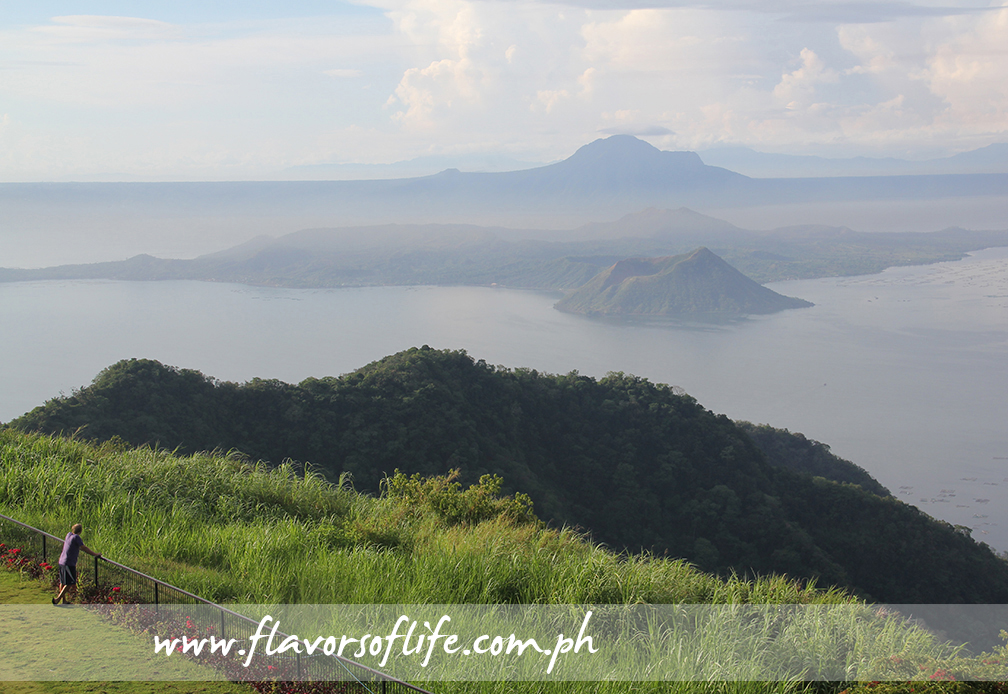 Breath-taking view of Taal Volcano from Taal Vista Hotel