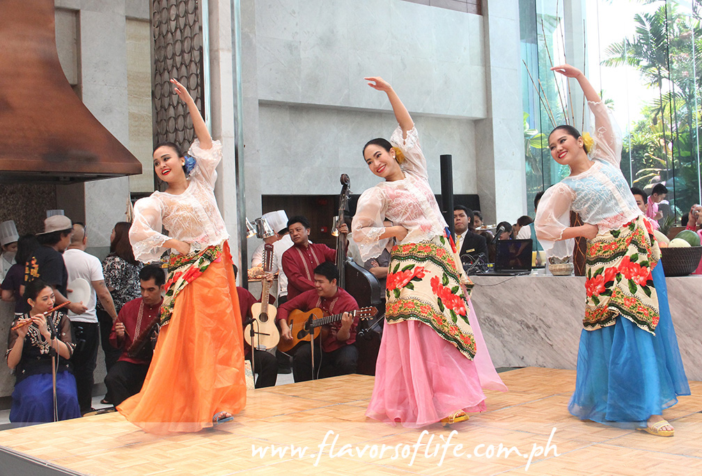 Bayanihan, the Philippine National Folk Dance Company, doing a dance number during the opening of Feasts from the Filipino Kitchen