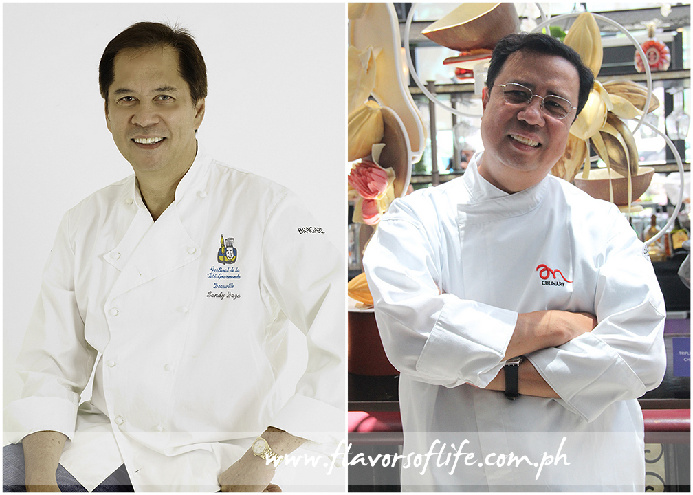 Celebrity chefs Sandy Daza (left) and Ariel Manuel (right) are the featured chefs at Sofitel Philippine Plaza Manila's Spiral restaurant on Father's Day