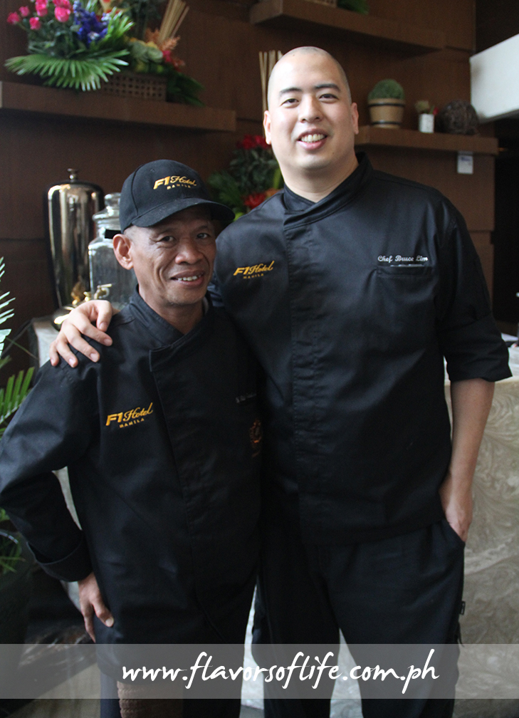 Guest chefs Sider Tadtad (representing Mindanao) and Bruce Lim (representing Luzon)