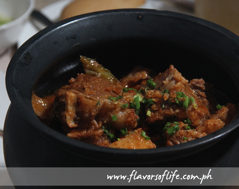 Flavorful and fork-tender Kaldereta served in a clay pot
