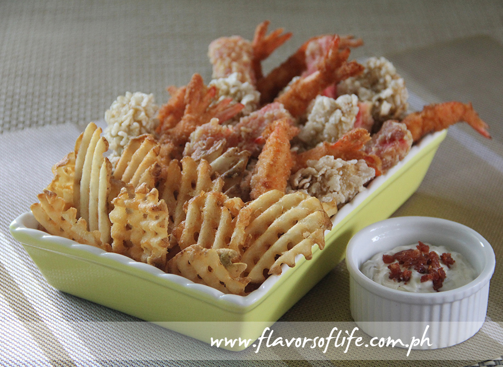 Would you like to try my Seafood and Chips Platter?