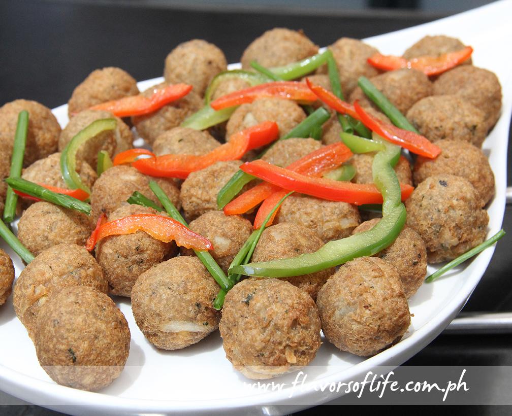 Smoked Fish and Tofu Balls by Chef Sandy Daza