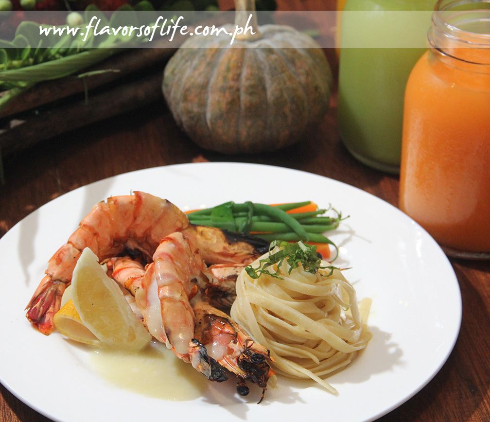 Grilled Prawns with Pasionfruit Butter Sauce
