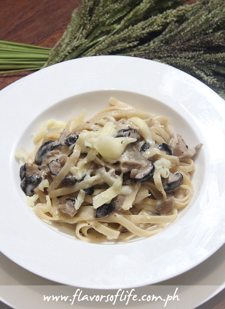 Three-Mushroom Truffled Cream Pasta