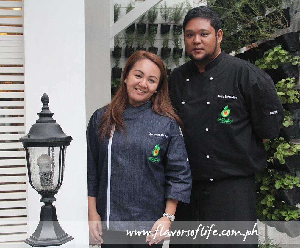 Executive Chef Gloria de Vera and Sous Chef Mark Bernardino