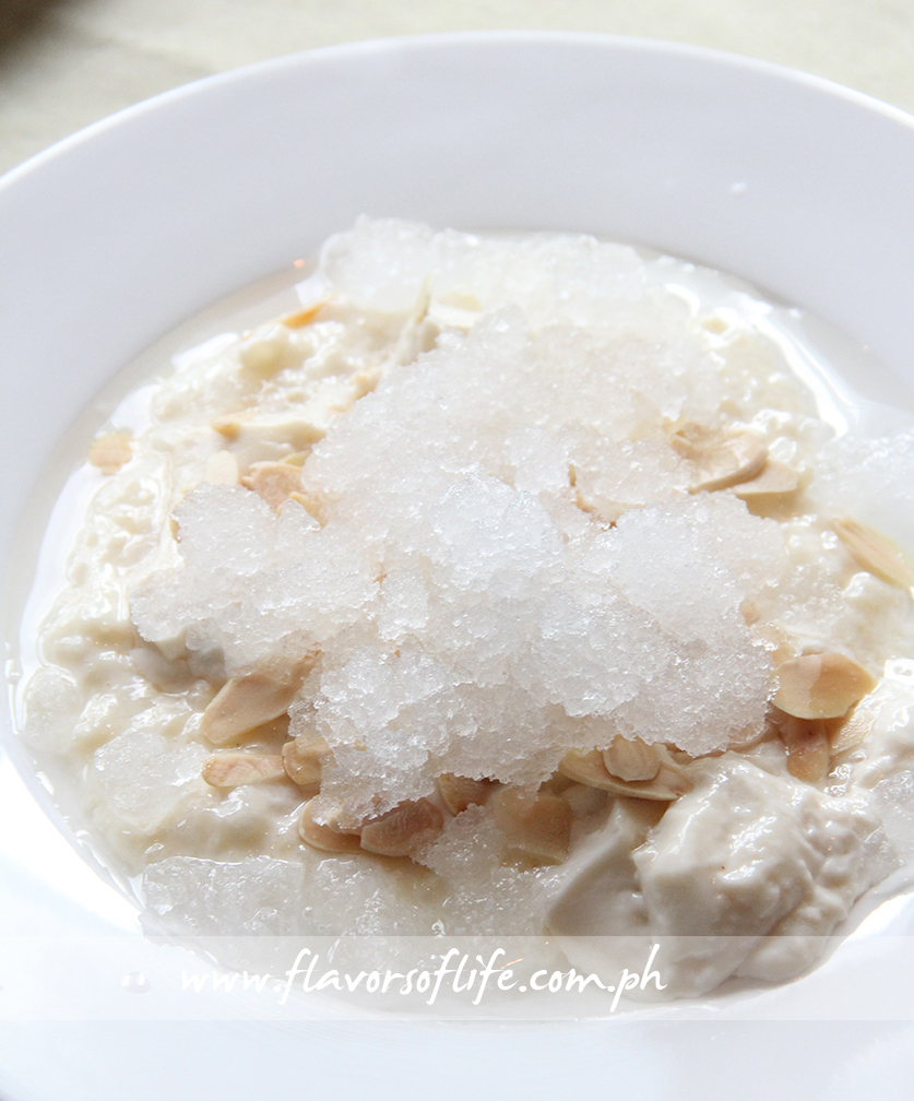Almond Pudding, Rice Syrup and Coconut Ice