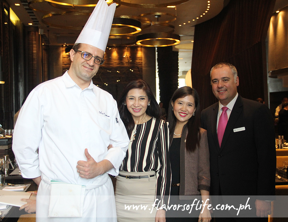 Executive chef Luis Pesaradonna, director of sales and marketing Pearl Peralta-Maclang, marketing communications and PR manager Beth Gokauchi, and F&B director Mirko de Giorgi