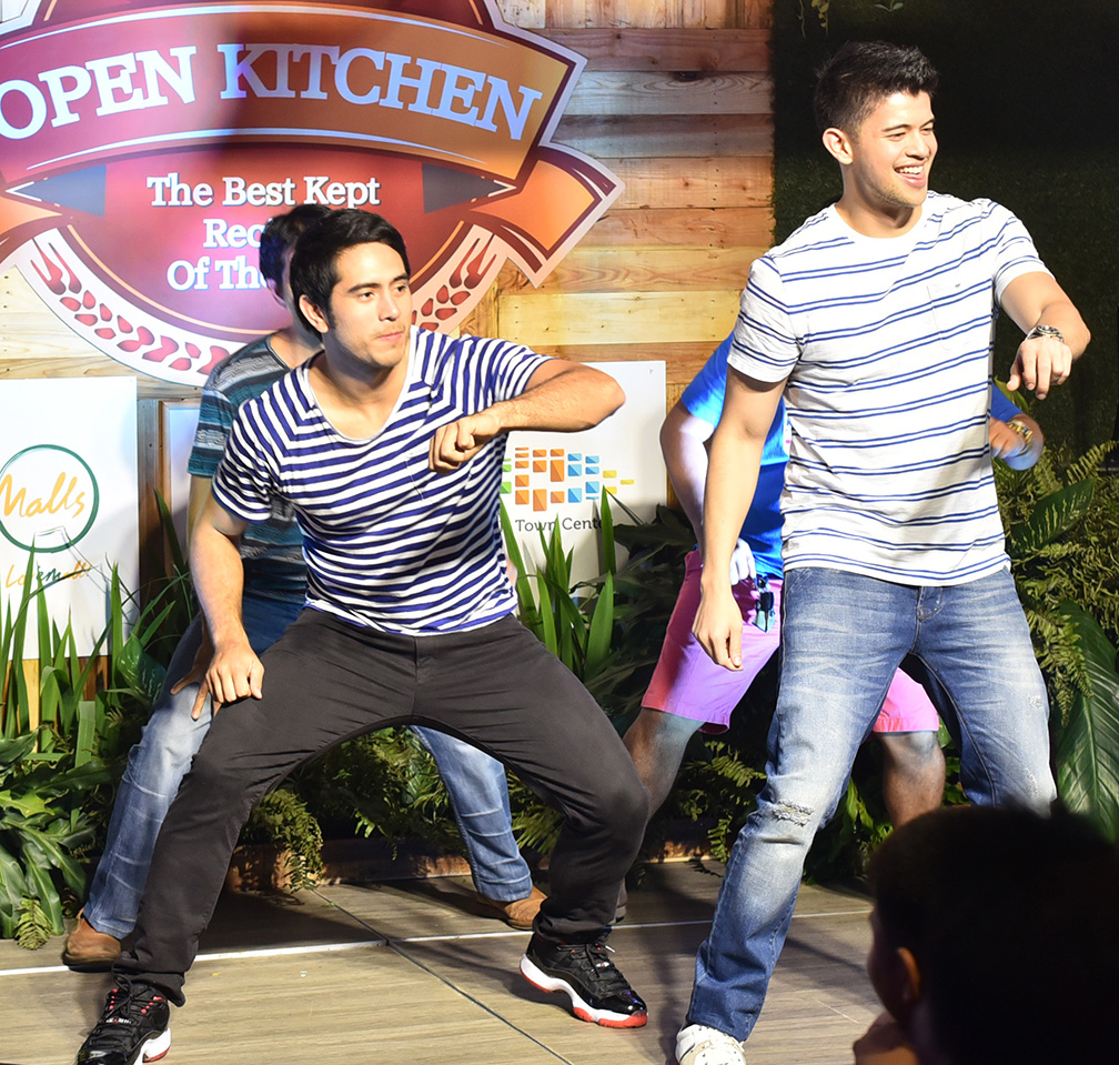 Gerald Anderson and Rayver Cruz in an upbeat dance number