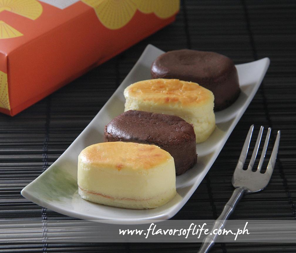 Signature Hanjuku Cheesecake in Original and Chocolate flavors