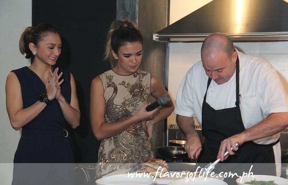 Iya Villania and Fely Irvine with Chef Wade Watson of Bondi & Bourke