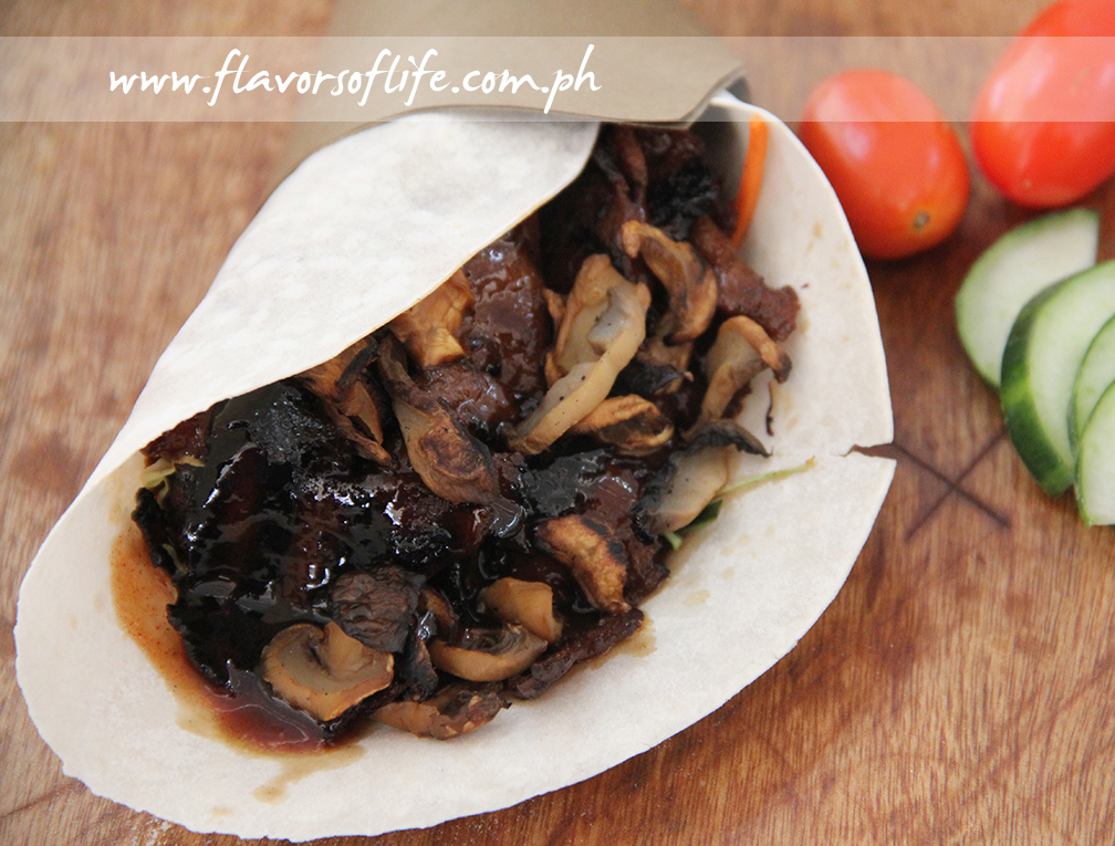 The Vegetarian Kitchen's Grilled Steak Wrap with Mushrooms and Homemade Barbecue Sauce