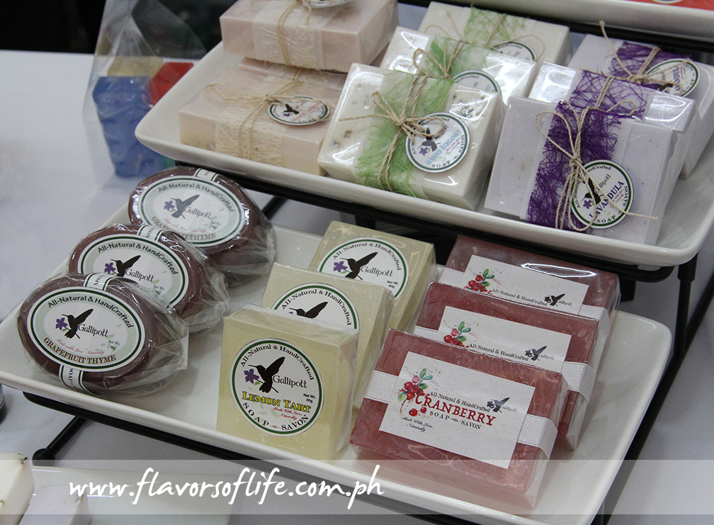 Gallipott's handcrafted soaps