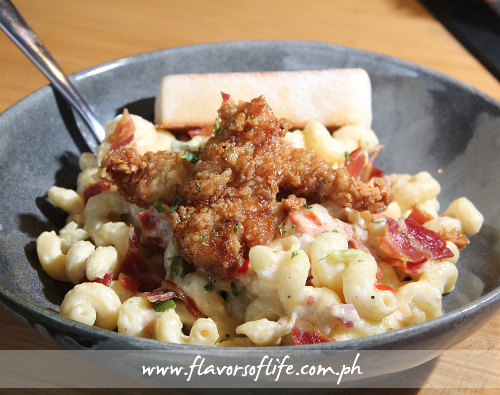 4-cheese Mac and Cheese with Honey Pepper Chicken Tenders