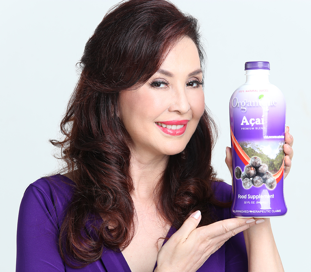 Fitness guru Cory Quirino drinks 1/4 cup of Organique Acai Premium Blend daily for good health