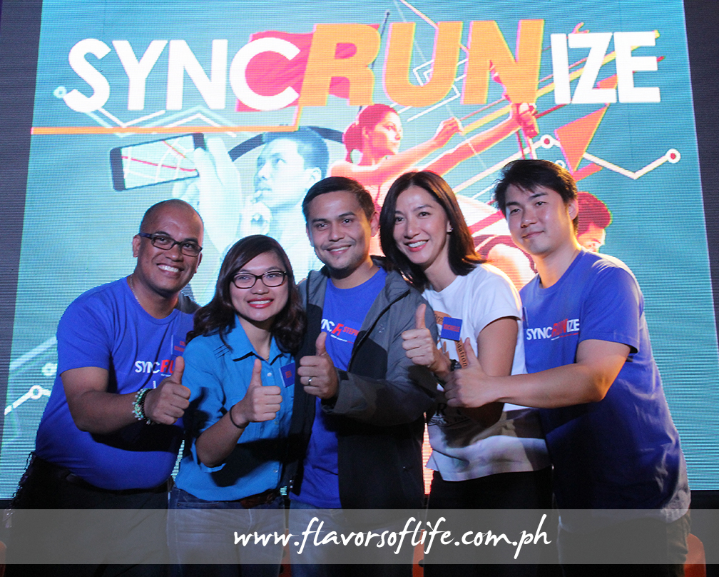 At the launch of 'SuncRUNize' at the Mind Museum, from left: Dennis Bumanglag of Guerilla Race; Ayala Land Inc. (ARCA South)'s marketing manager Jennifer Chua; ARCA South project development manager Stephen Comia; Michelle Chan of Hero Foundation; and Mike Yu of Go Go Hunt