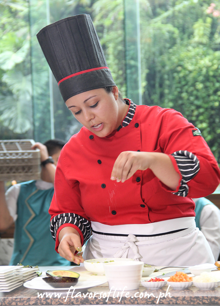 Mexican guest chef Daniela Romero Silva conducting a cooking demo on opening day