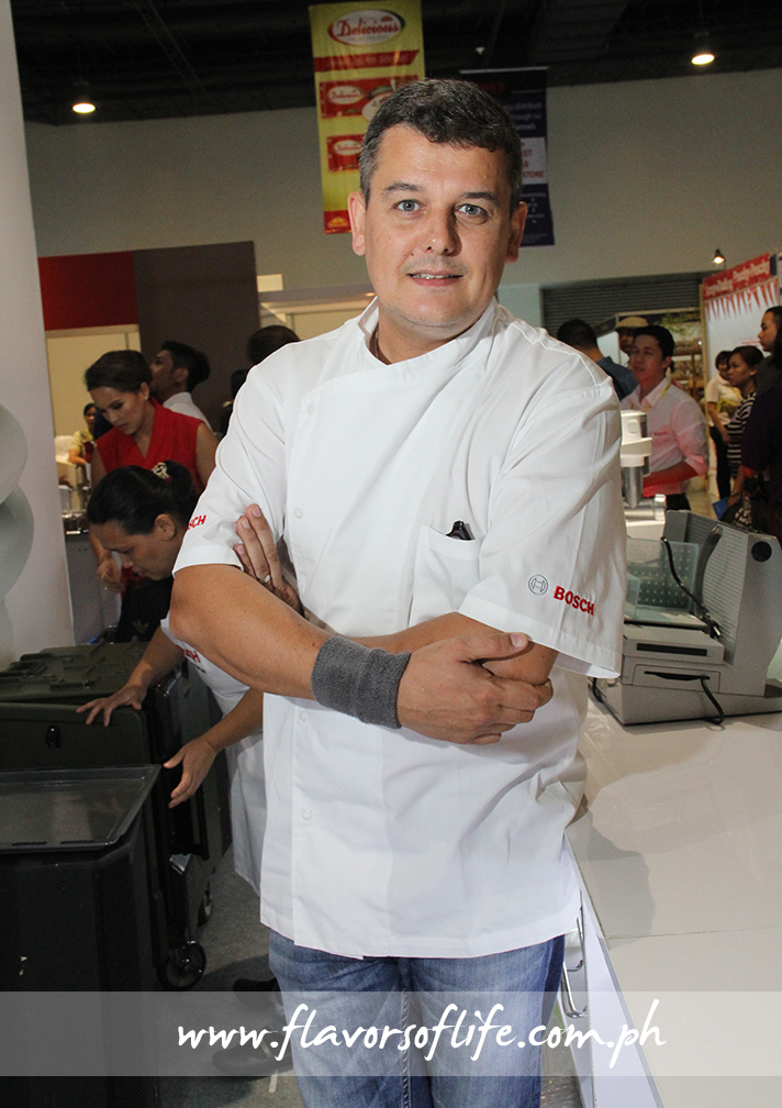 Chef Jean-Charles Dubois, who came all the way from Singapore to grace the Manila launch