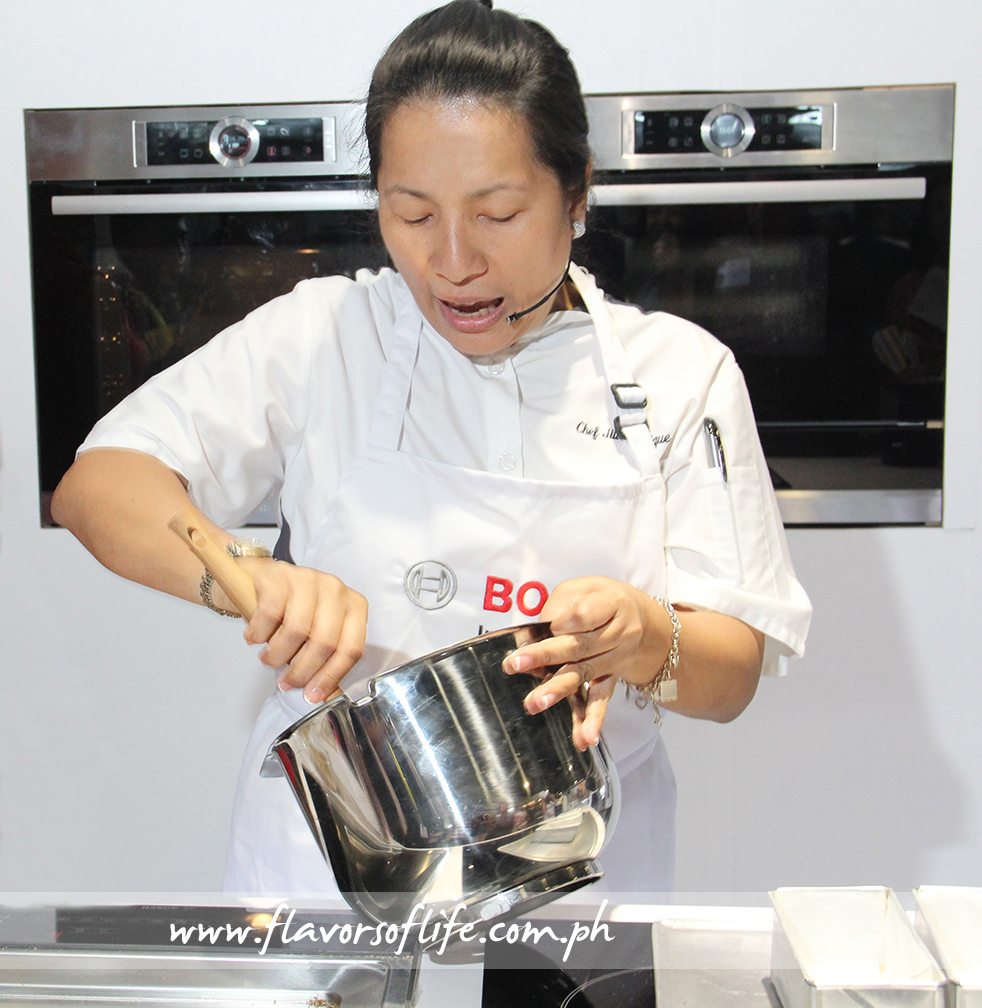 Chef Jill Sandique busy at work during the demo...