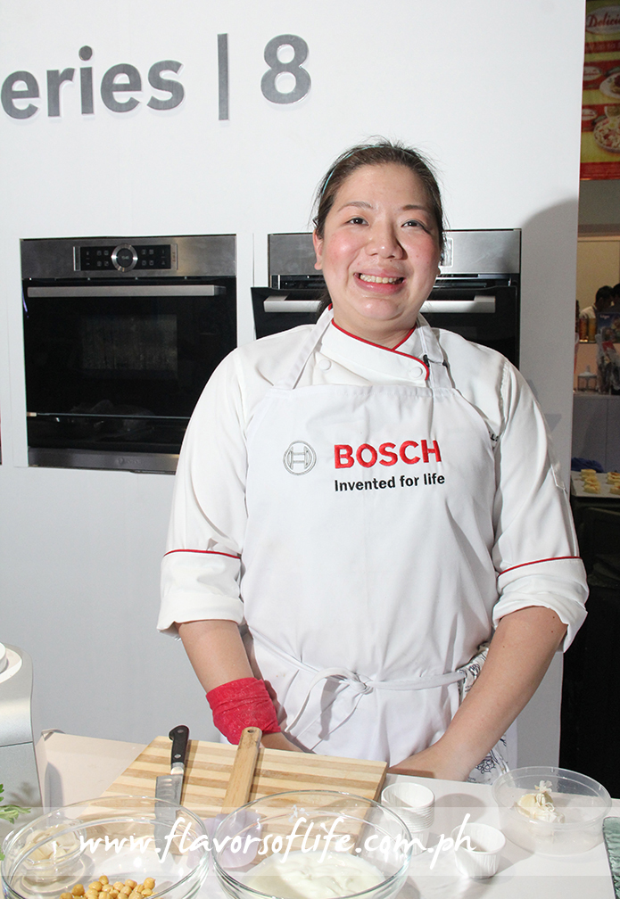 Chef Kim Castillo took up the rear in the three-chef demo that served as highlight of the Bosch Series 8 Ovens launch at WOFEX 2015