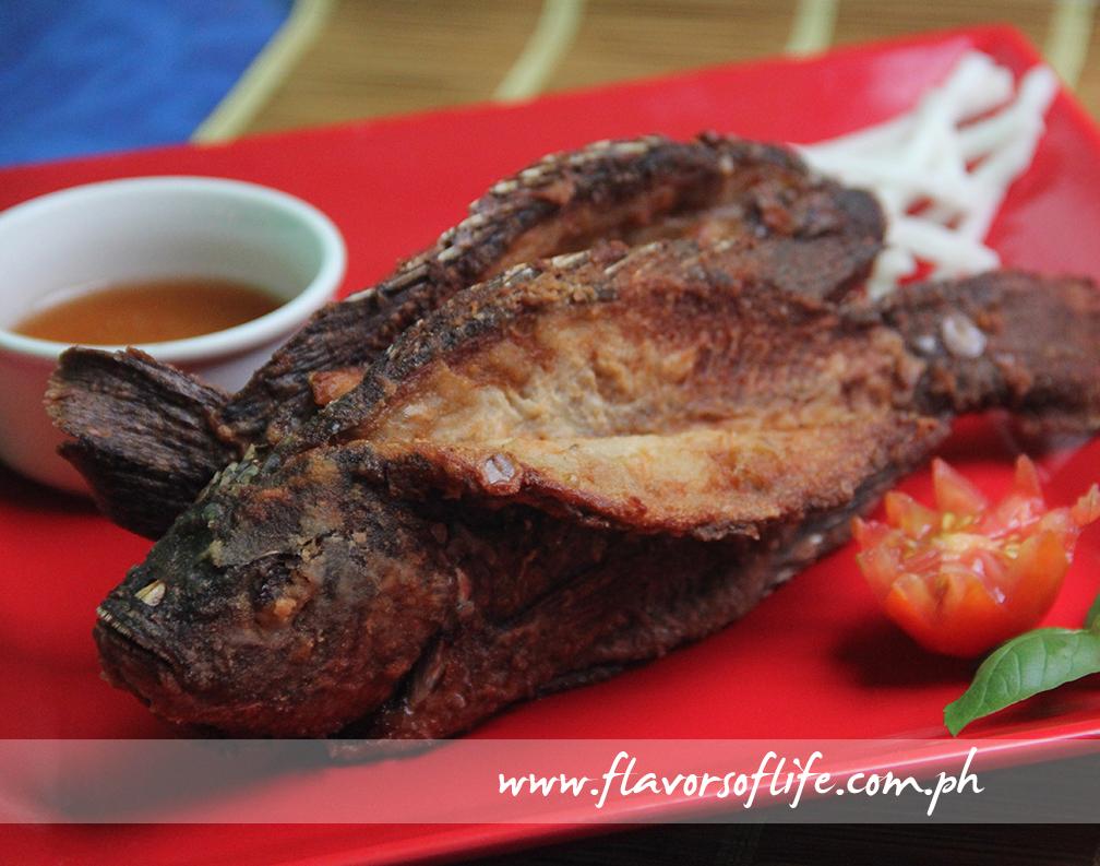 Paru-parong Tilapia with Sweet Tamarind Sauce