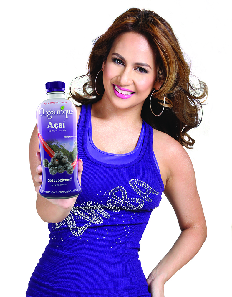 TV personality and dance diva Regine Tolentino also endorses Organique Acai
