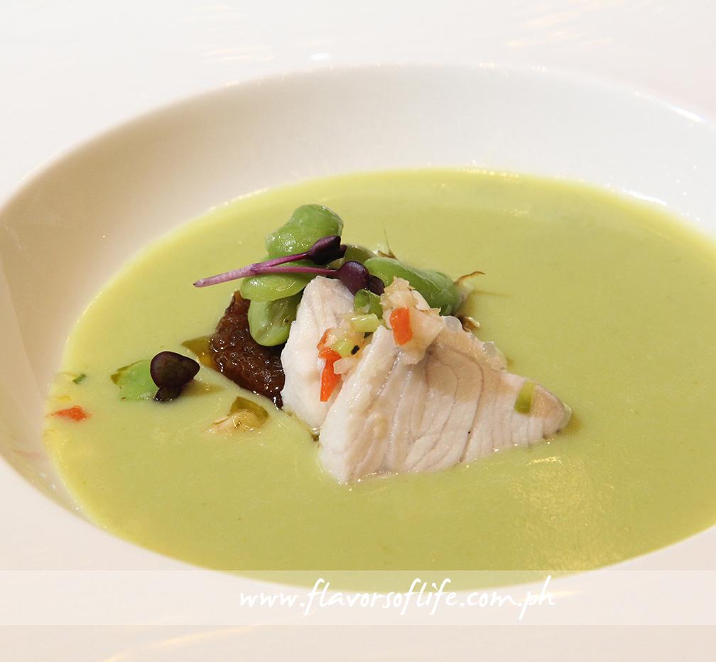 Broad Bean Soup with Kilawing Mahi-mahi