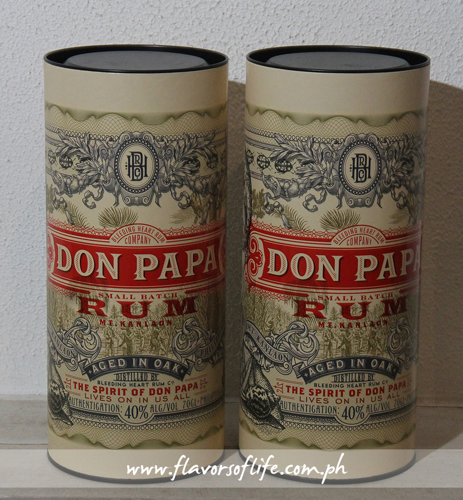 The multiawarded Don Papa Rum canister design