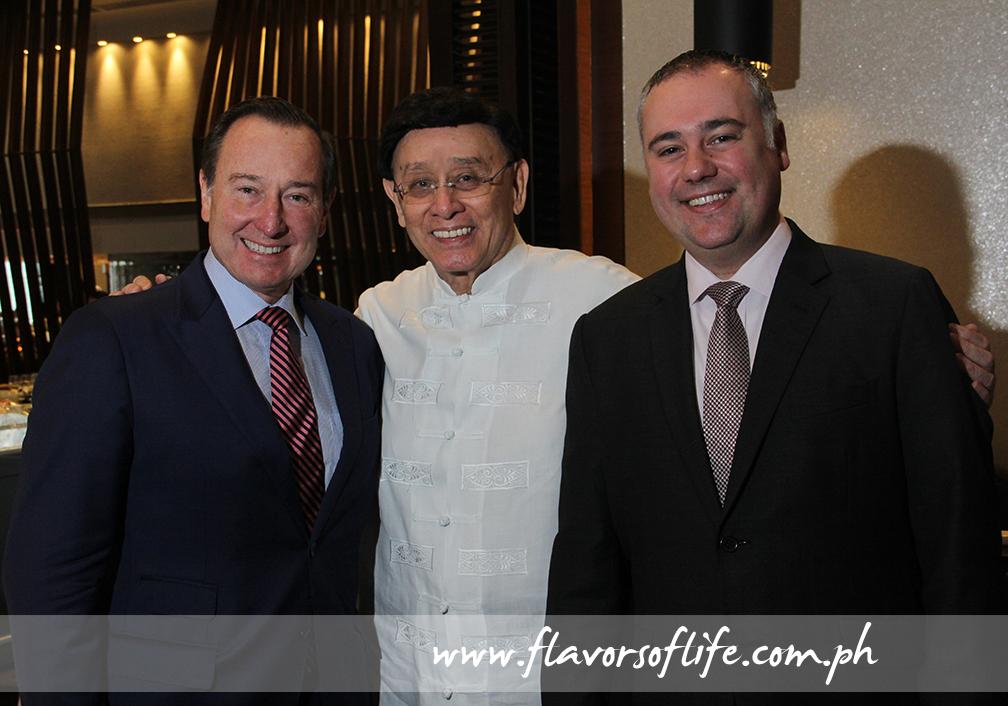Marco Polo Ortigas general manager Frank Reichenbach, publicist Johnny Litton, and F&B director Mirko di Giorgio