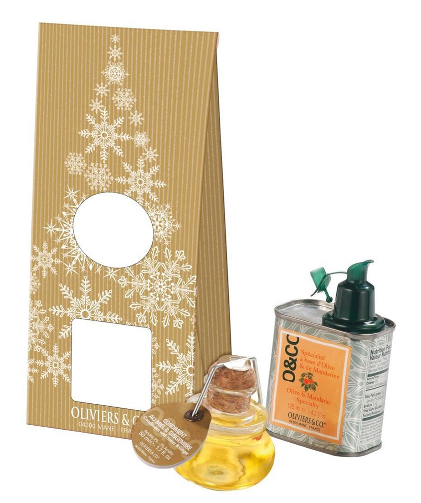 Christmas Meli-Melo consists of Olive Mandarin Specialty with Honey Ginger Condiment
