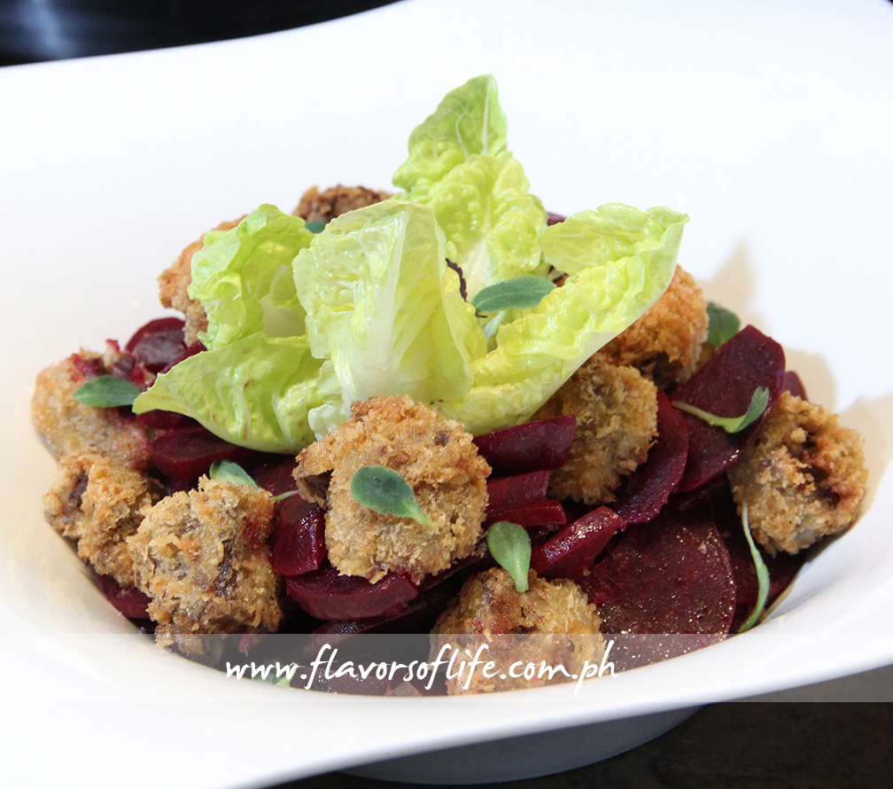 Fried Veal Shank with Beetroot
