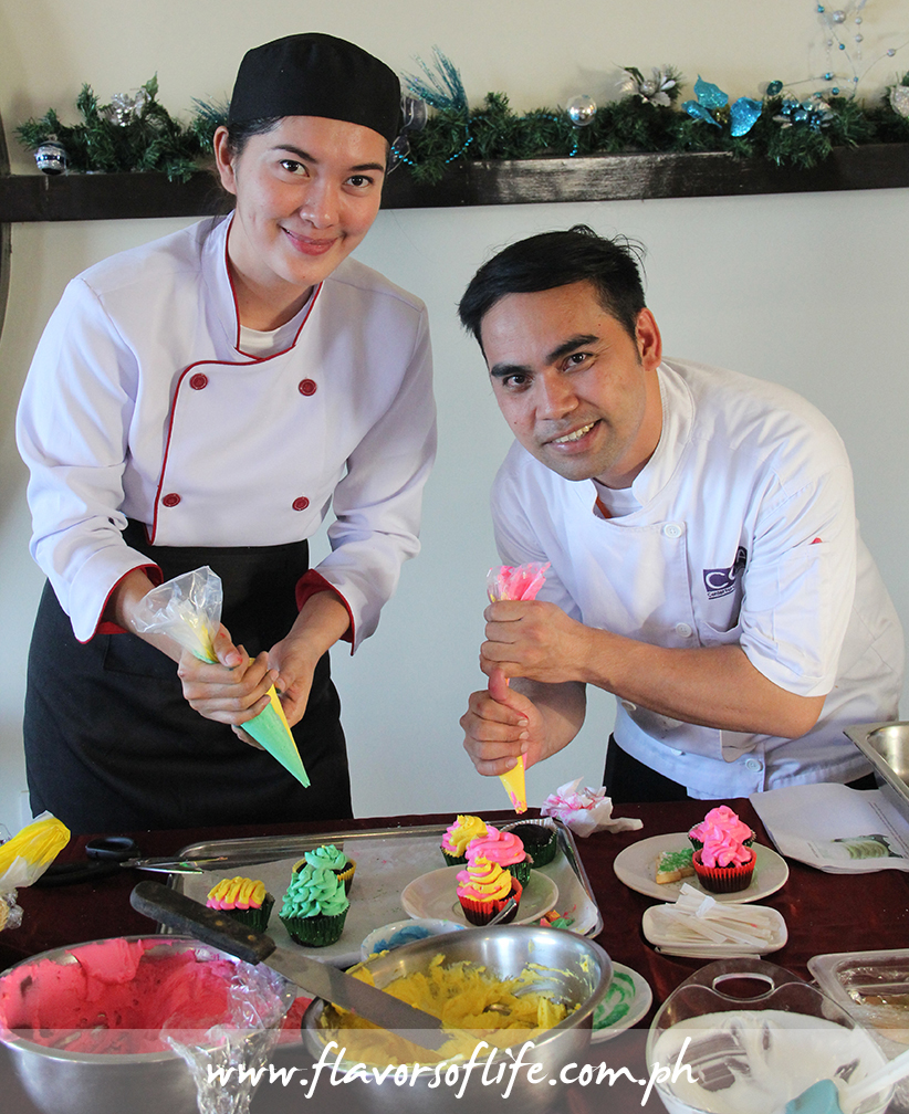 Chefs conducting a cookie and cupcake decorating workshop