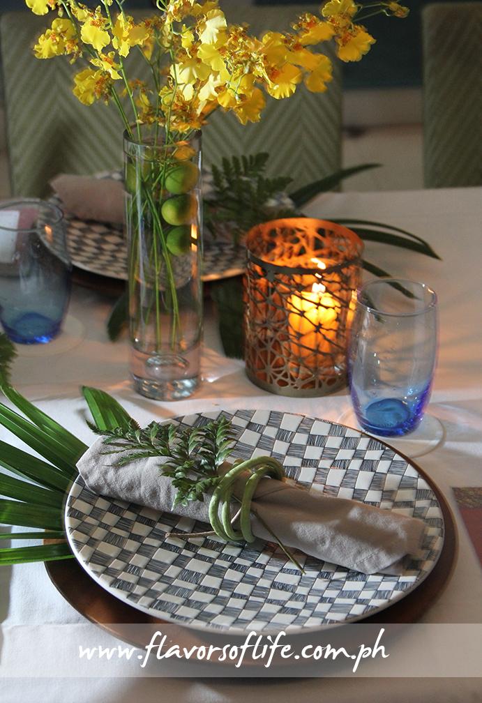 Christmas table setting at M Cafe