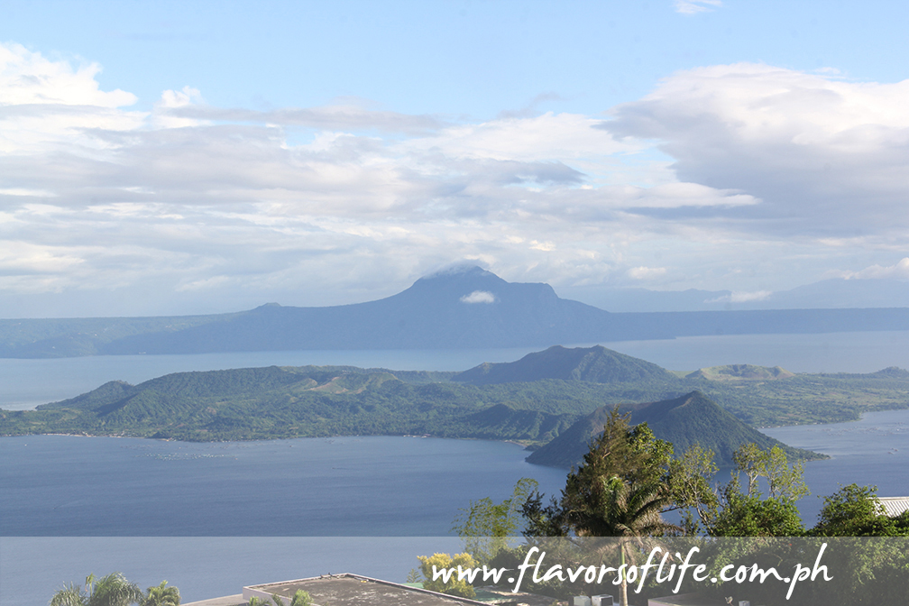 View of Taal Volcano and Taal Lake from my room at Summit Ridge Tagaytay