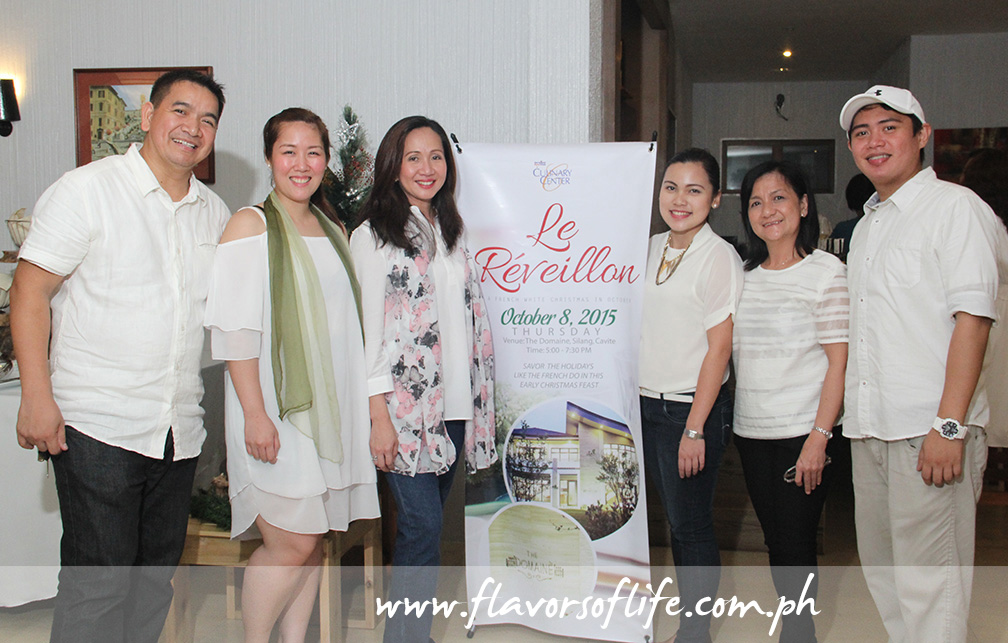 The San Miguel Pure Foods Culinary Center team, from left: Chef Rene Ruz, Chef KC Jardin, Llena Arcenas,Rowena Balanga, Muny Moreno and Chef John Valley
