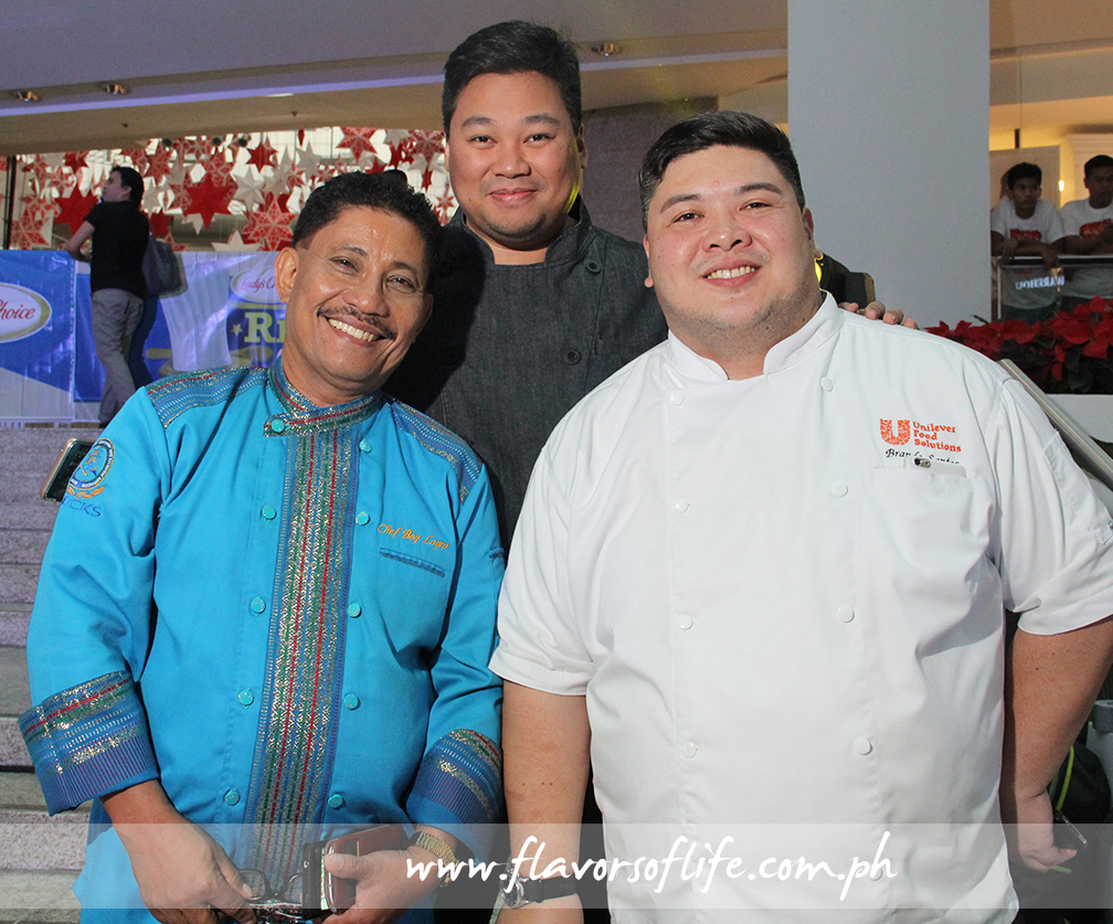 Making up the Panel of Judges were Chefs Boy Logro, Edgar Bugia and Brando Santos
