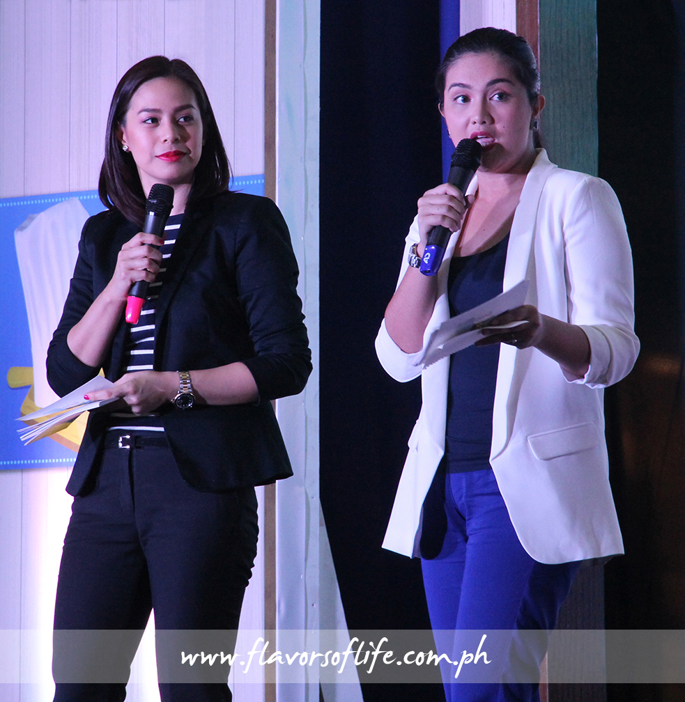 Grand finals hosts Bettina Carlos and Dimples Romana