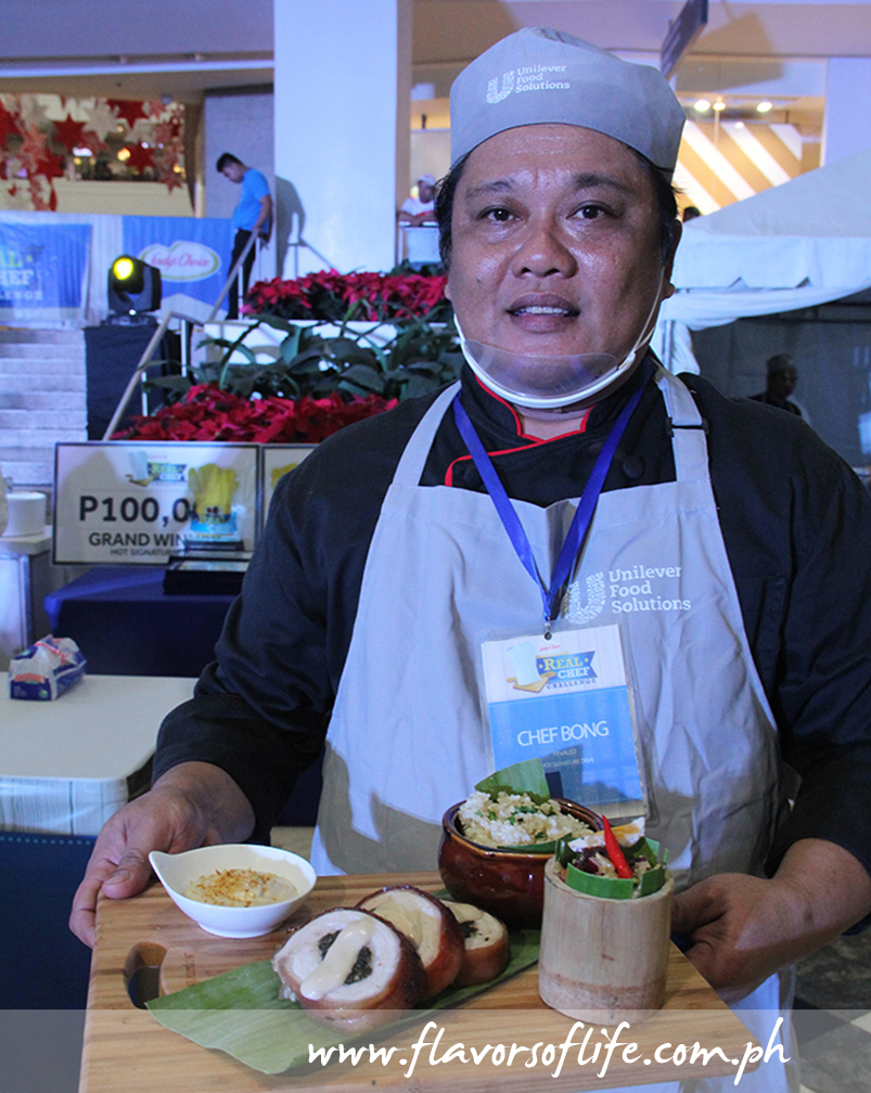 The grand winner in the Hot Signature Dish category was Chef Bong Ronquillo
