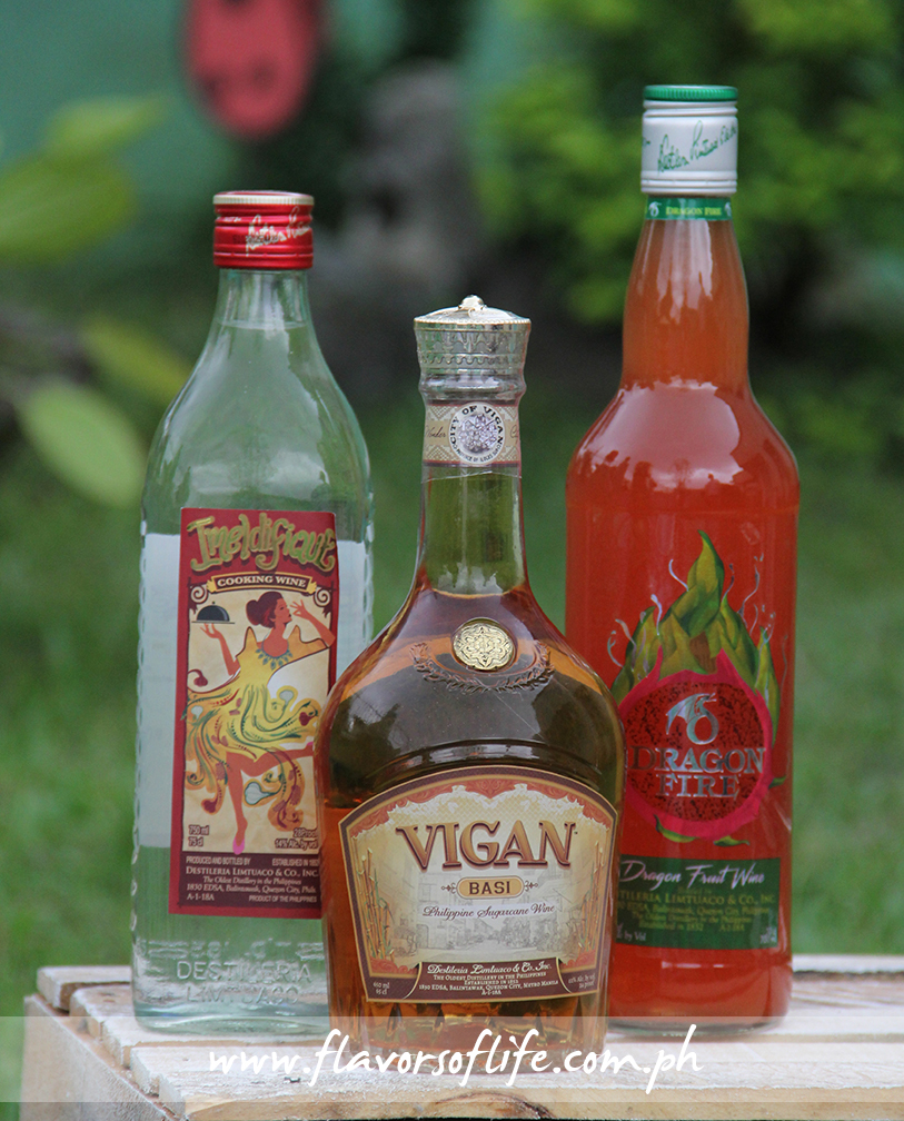 Imeldifique Cooking Wine, Vigan Philippine Sugarcane Wine (Basi) and Dragon Fire Dragon Fruit Wine