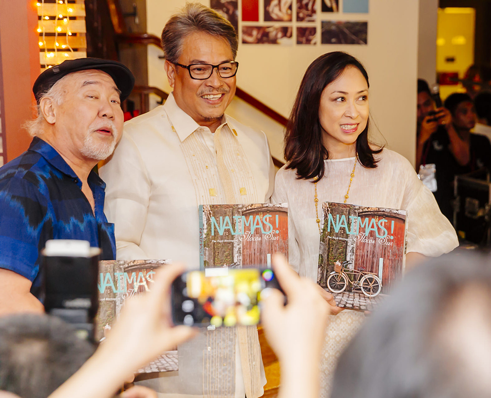 Top photographer Neal Oshima, Ilocos Sur Vice Governor DV Savellano and Chef Heny Sison also launched their book, 'Naimas,' during the event