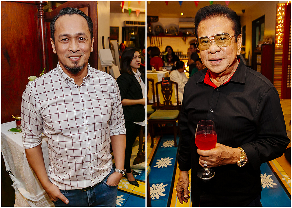 Chef Sau Del Rosario and Luis 'Chavit' Singson were among the guests