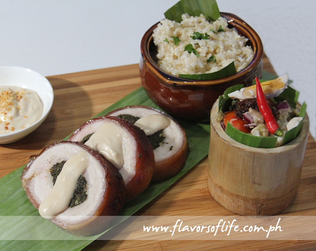 Chef Bong Ronquillo's 'Roasted Pork Belly with Spicy Laing Filling'
