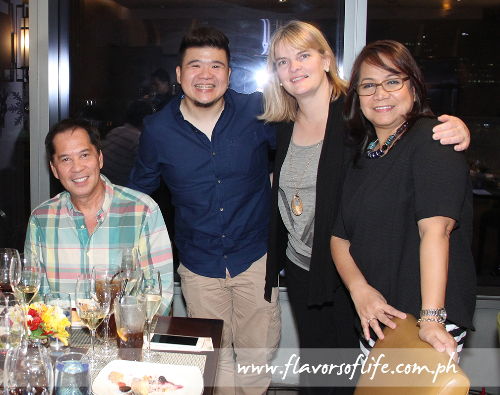 Chefs Sandy Daza and Sharwin Tee with Susan Weller and Evelyn Mercurio