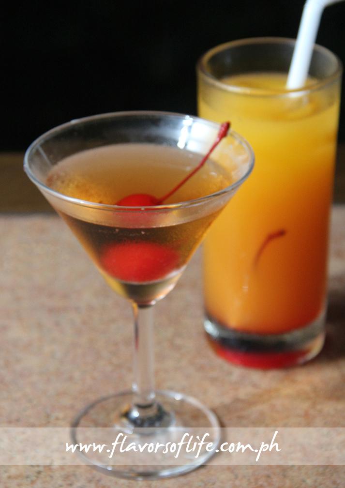 Enjoy cocktail drinks at the al fresco area